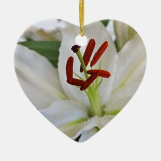 Ornement Cœur En Céramique Enchantement agité