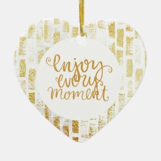 Ornement Cœur En Céramique Enjoy every moment
