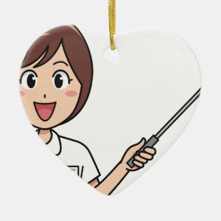 Ornement Cœur En Céramique Enseignement de femme