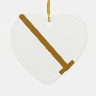 Ornement Cœur En Céramique Épée en bois