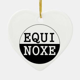 Ornement Cœur En Céramique équinoxe noir et blanc