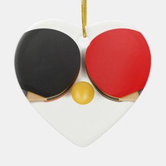 Ornement Cœur En Céramique Équipement de ping-pong