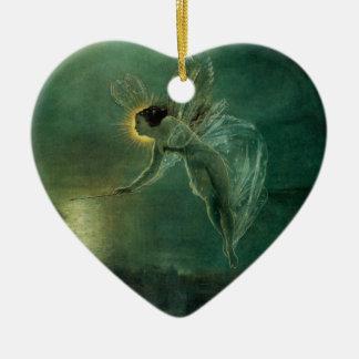 Ornement Cœur En Céramique Esprit de la nuit par Grimshaw, fée victorienne