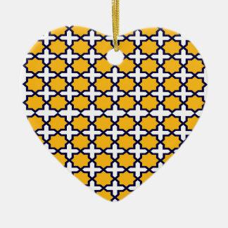 Ornement Cœur En Céramique Ethno d'exotico de l'Orient de structure de