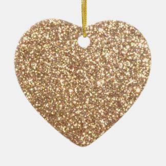 Ornement Cœur En Céramique Étincelles de cuivre lumineuses de scintillement
