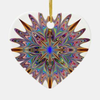 Ornement Cœur En Céramique étoile