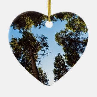 Ornement Cœur En Céramique Étoile de la forêt de pin