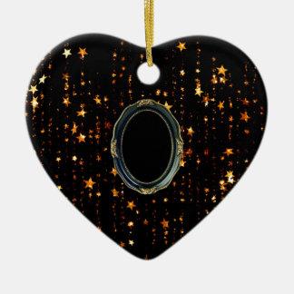 Ornement Cœur En Céramique étoiles brillantes