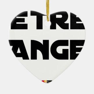 Ornement Cœur En Céramique ÊTRE ANGE - Jeux de mots - Francois Ville