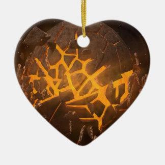 Ornement Cœur En Céramique Explosion de planète