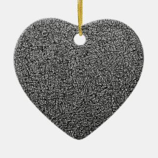 Ornement Cœur En Céramique Expression