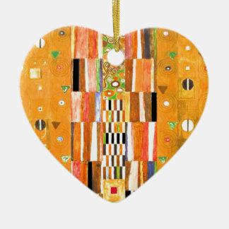 Ornement Cœur En Céramique Extrémité de Gustav Klimt du mur