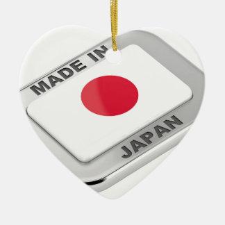 Ornement Cœur En Céramique Fabriqué au Japon