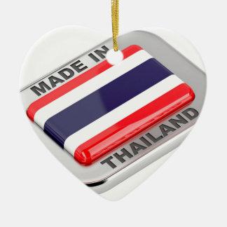 Ornement Cœur En Céramique Fabriqué en Thaïlande