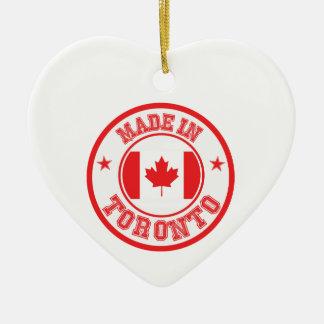 Ornement Cœur En Céramique Fait à Toronto