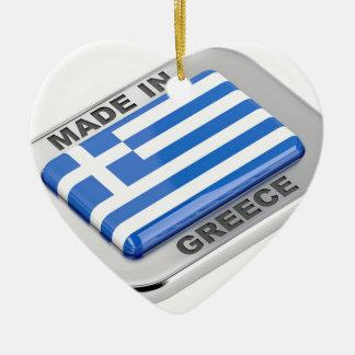 Ornement Cœur En Céramique Fait dans l'insigne de la Grèce