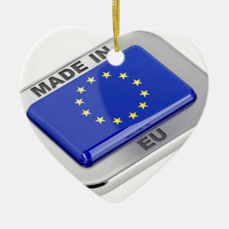 Ornement Cœur En Céramique Fait dans l'Union européenne