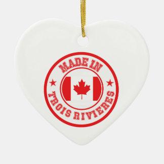 Ornement Cœur En Céramique Fait dans Trois-Rivières