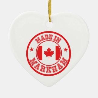 Ornement Cœur En Céramique Fait en Markham