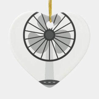 Ornement Cœur En Céramique Fan de bureau
