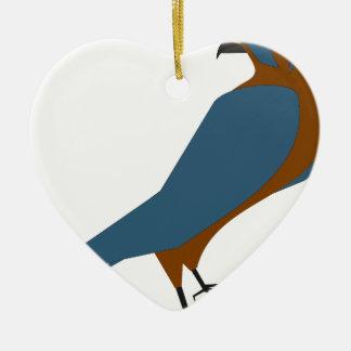 Ornement Cœur En Céramique faucon