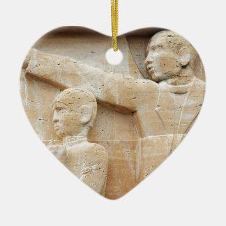 Ornement Cœur En Céramique Fête des pères heureuse