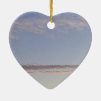 Ornement Cœur En Céramique Filet de nuage
