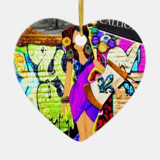 Ornement Cœur En Céramique Fille de Calliope