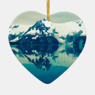 Ornement Cœur En Céramique Fjords de Kenai