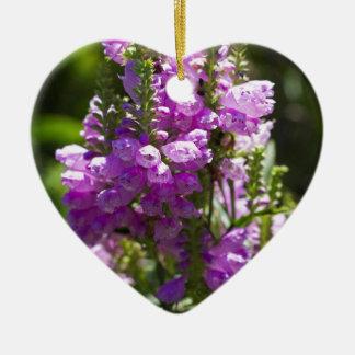 Ornement Cœur En Céramique Fleur obéissante ou fleur de dragon