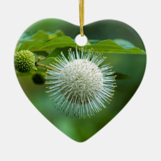 Ornement Cœur En Céramique Fleur sauvage de Bush de bouton de l'Alabama