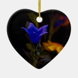 Ornement Cœur En Céramique Fleurs de ballon