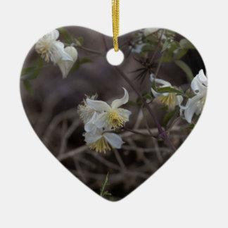 Ornement Cœur En Céramique Fleurs de joie de voyageur (brachiata de