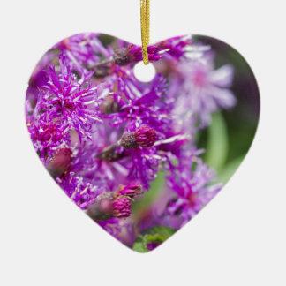 Ornement Cœur En Céramique Fleurs sauvages grands d'herbe de Saint-Jacques