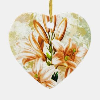 Ornement Cœur En Céramique Floral, art, conception, beau, nouvelle, mode,