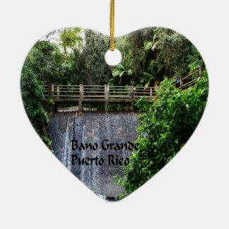Ornement Cœur En Céramique Forêt tropicale d'EL Yunique
