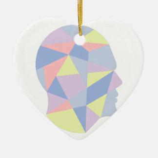 Ornement Cœur En Céramique Formes géométriques à l'intérieur de conception