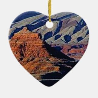 Ornement Cœur En Céramique formes naturelles du désert