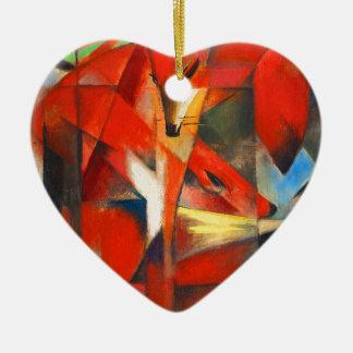 Ornement Cœur En Céramique Franz Marc les renards