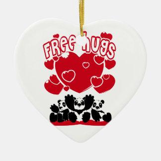 Ornement Cœur En Céramique Free_Hugs