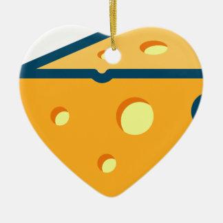 Ornement Cœur En Céramique Fromage suisse