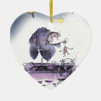 Ornement Cœur En Céramique furet de mA d'ol de Yorkshire d'amour