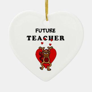 Ornement Cœur En Céramique Futur professeur