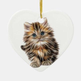 Ornement Cœur En Céramique gamme de conception de fractale de chaton