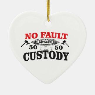 Ornement Cœur En Céramique garde 50 du divorce 50 de marteau