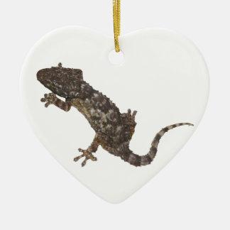 Ornement Cœur En Céramique gecko