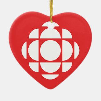 Ornement Cœur En Céramique Gemme de CBC/Radio-Canada