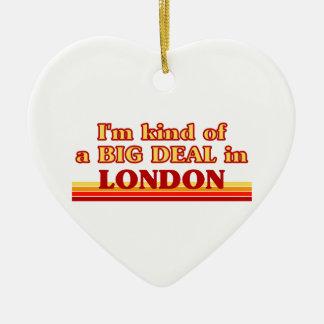 Ornement Cœur En Céramique Genre d'I´m d'affaire à Londres