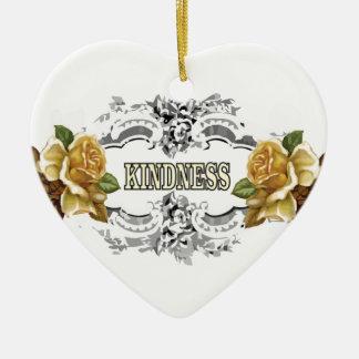 Ornement Cœur En Céramique gentillesse jaune