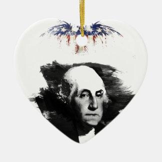 Ornement Cœur En Céramique George Washington